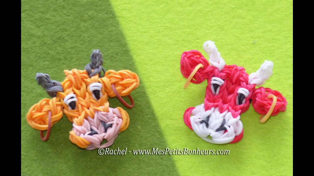 Gut bekannt Tuto Rainbow Loom de Vache qui Rit ou Vache Orange - YouTube ER32