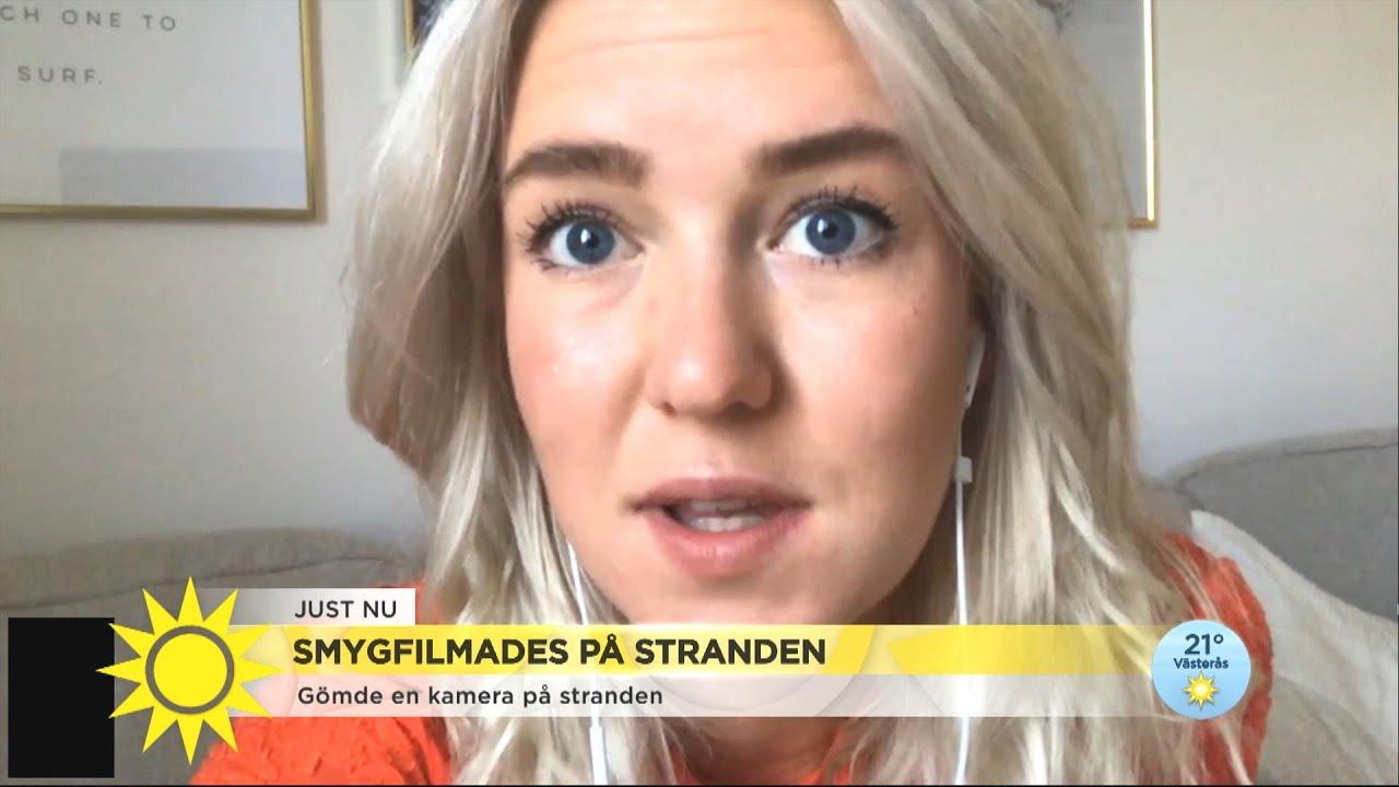 """Hon blev smygfilmad på stranden: """"Det är helt sjukt att det är lagligt"""" - Nyhetsmorgon (TV4)"""