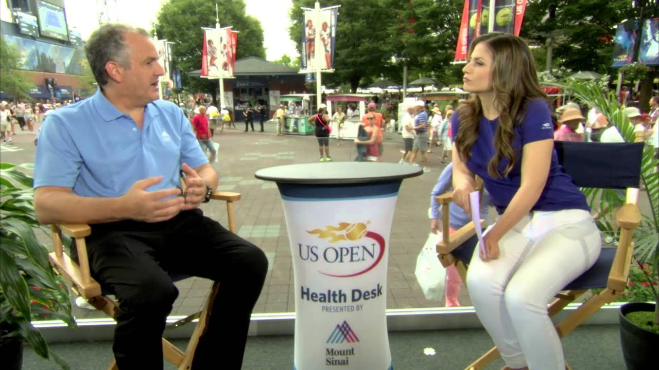 Mount Sinai Health Desk at the US Open - Protecting Your Back