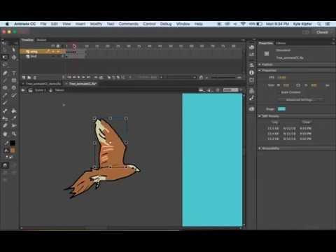 Animate a Bird Flying Adobe Animate CC Tutorial