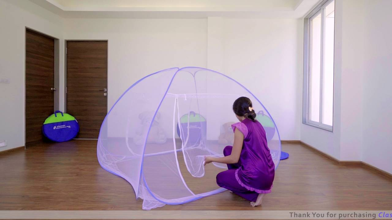 Classic Double Bed Mosquito Net Folding Method Ii Youtube