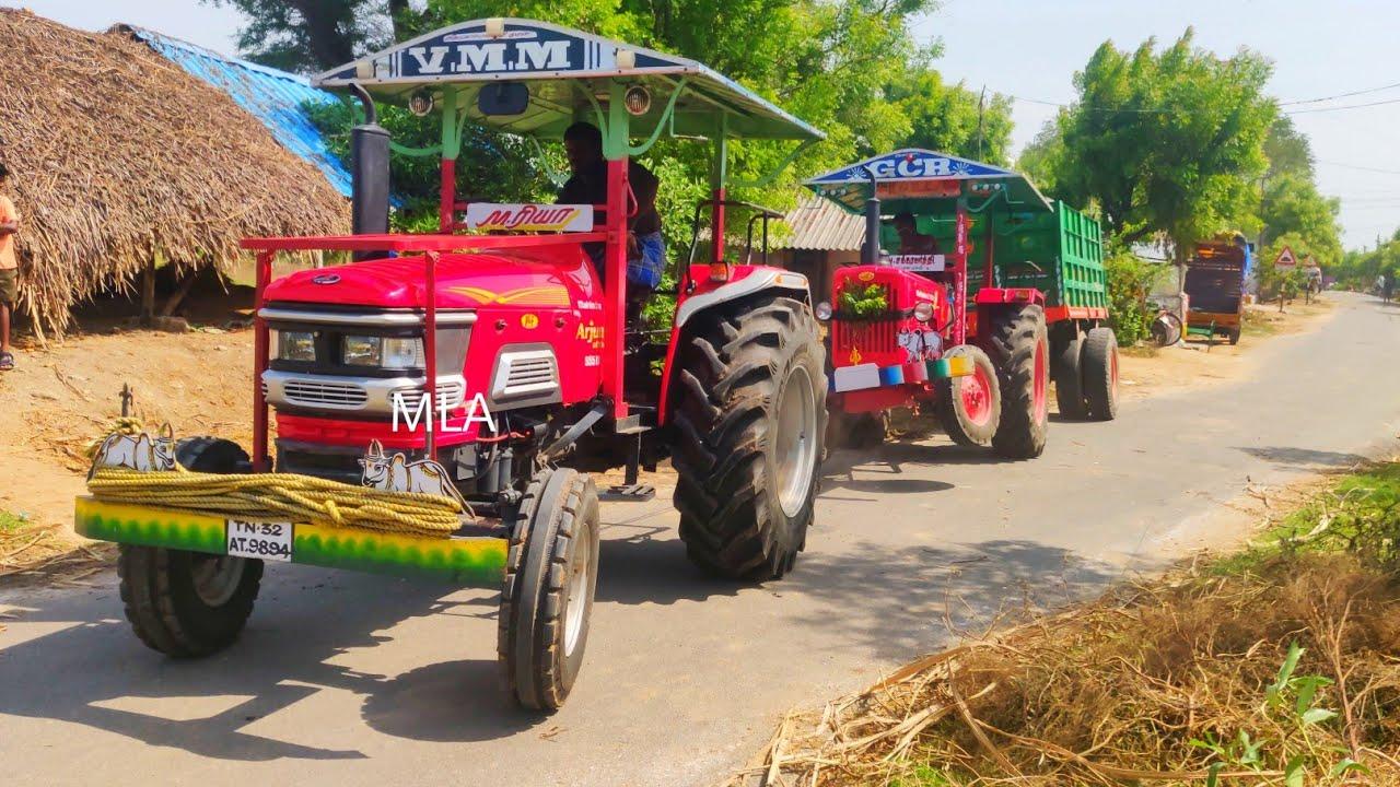 Mahindra 575 Di tractor stuck in mud Mahindra 555 Di Arjun tractor pulling  Come For Village   #CFV