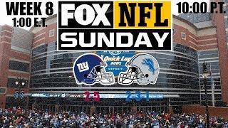 2019 NFL Season - Week 8 - (Prediction) - Giants at Lions