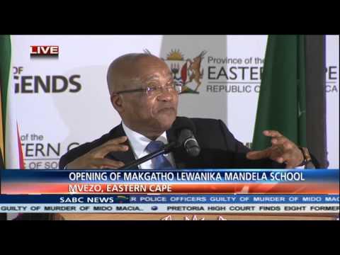 Jacob Zuma opening a state of the art school at Mvezo