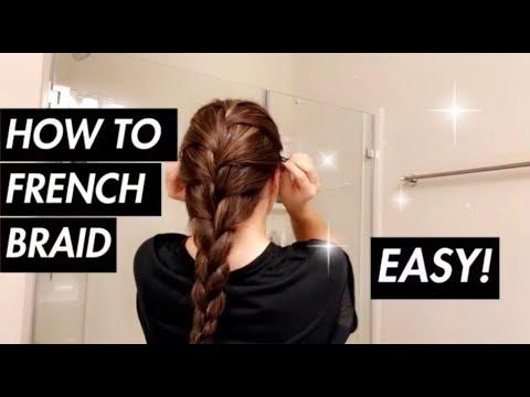 HOW TO FRENCH BRAID YOUR OWN HAIR/ TUTORIAL | Tia Lynn