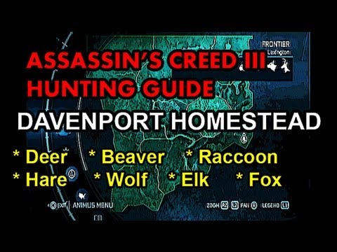 Assassin S Creed 3 Hunting Guide Part 13 Davenport Homestead
