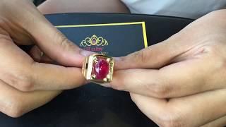 Sở hữu chiếc nhẫn Ruby này bạn đã có một tầm Đẳng cấp khác - Ruby ring for men VIP - IRUBY