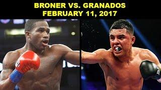 ADRIEN BRONER FACES ADRIAN GRANADOS ON FEB. 11; GARCIA VS. THURMAN ON MAR. 4 (SHOWTIME SCHEDULE)