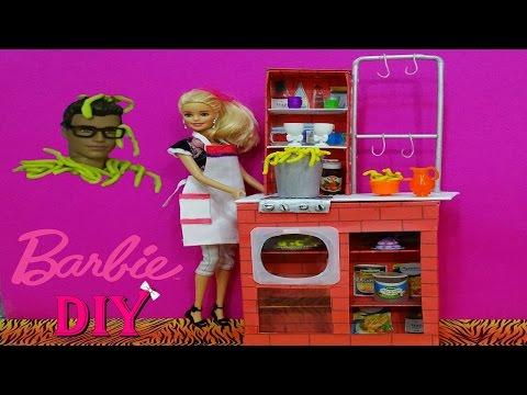 Barbie Makarna Şefi Mutfağı  Nasıl Yapılır  -   Kendin  Yap DIY