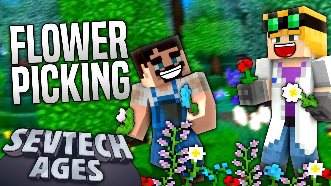 Minecraft - FLOWER PICKING - SevTech Ages #27 - Duncan :: Let's Play