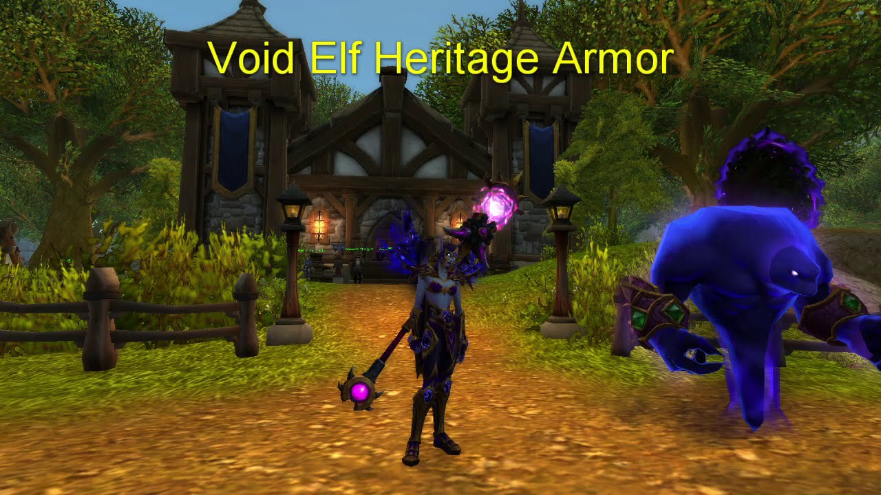 Void Elf Heritage Armor Youtube Create a new void elf and reach level 50 to earn a distinctive heritage armor set—a lasting symbol of your dedication. void elf heritage armor