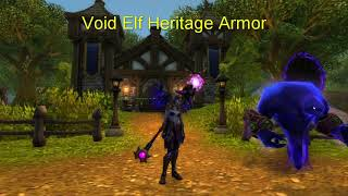 Void Elf Heritage Armor Blood elf heritage armor here are seven proposed color variations of the blood elf heritage armor set, including tint. void elf heritage armor