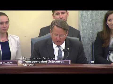 Sen. Dan Sullivan (R-AK) at a Senate Commerce Subcommittee Hearing - July 25, 2017