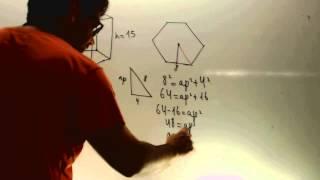 Volumen de un prisma de base hexagonal Matematicas 2 ESO Academia Usero Estepona
