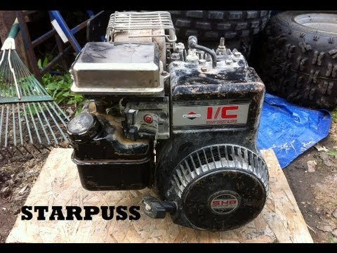 Briggs stratton 5 hp engine cold start youtube for Briggs and stratton 5hp motor
