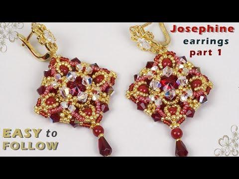 Beautiful earrings part 1 tutorial