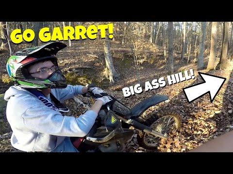 Climbing Big Ass Hills | Dad DESTROYS Brand NEW Dirt Bike!