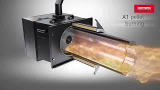 Bruciatore industriale Platinum Bio Spin per conversione caldaie da gasolio a pellet