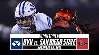 BYU vs. San Diego State Football Highlights (2019) | Stadium