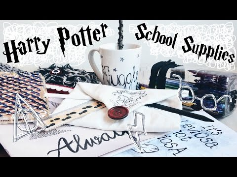 DIY Harry Potter School Supplies & Organisation Ideas! 10 Easy Crafts for Back to School || Adela