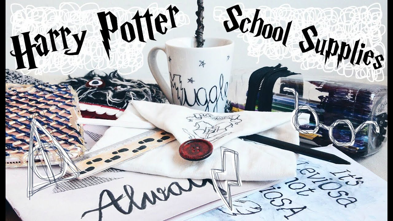 Diy Harry Potter School Supplies Organisation Ideas 10 Easy