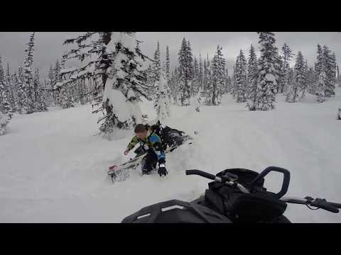 Snowmobiling at Boulder Mountain in Revelstoke BC