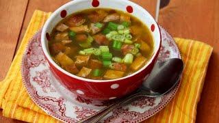 Чечевичный суп с копчеными колбасками