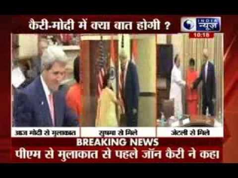 John Kerry to meet Prime Minister Narendra Modi today