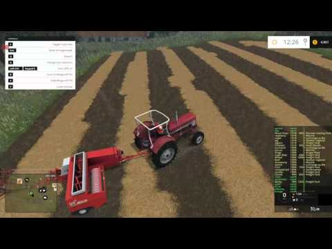 "Vieille France  map for  Farming Simulator 15  ""mini bales"""