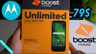 Boost Mobile 80$ Moto G6 Play Unboxing! Any Difference With The Verizon Model?