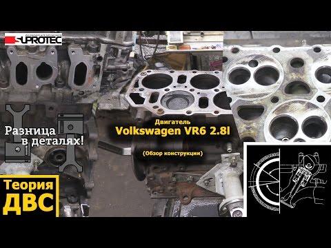 Фото к видео: Двигатель Volkswagen VR6 2.8l (обзор конструкции)