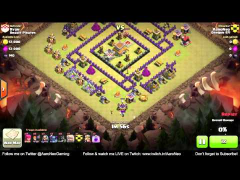 Best town hall level 8 th8 clan wars attack strategy part 2