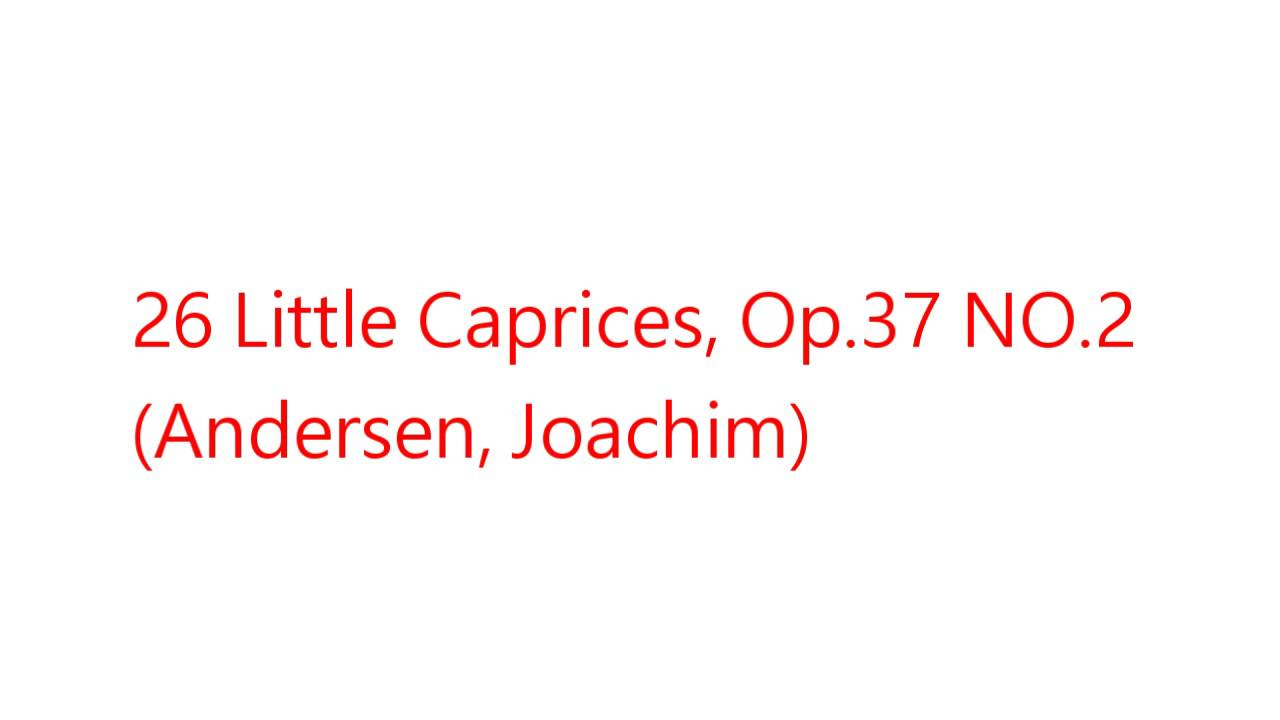 Op 37 26 Little Caprices for Flute