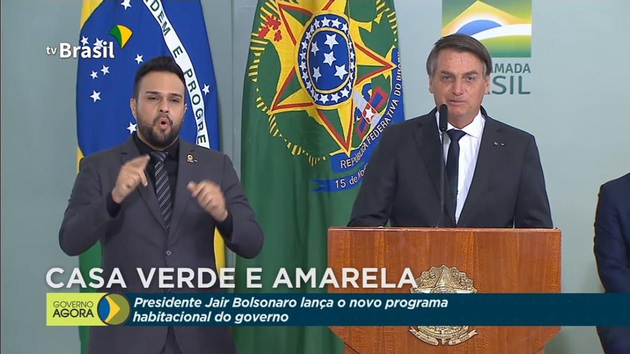 Presidente Jair Bolsonaro lança programa Casa Verde e Amarela - YouTube