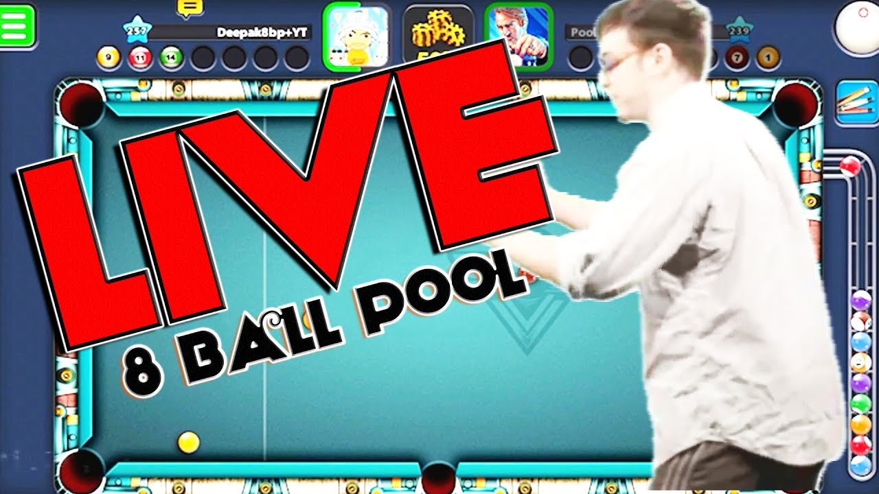 Saturday 8 Ball Pool LIVE -NO GIVEAWAY- -id 118-640-125-9 ENGLISH COMMENTARY!