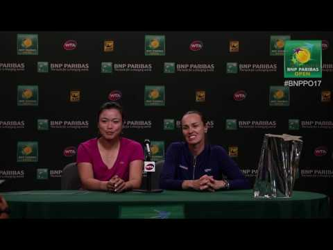BNP Paribas Open 2017: Martina Hingis & Chan Yung-Jan Final Press Conference