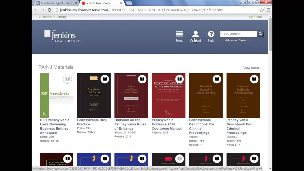 Using LexisNexis Digital Library Part 1 Managing Your Bookshelf