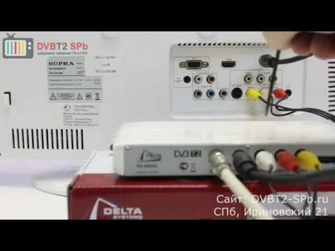 Как подключить приставку DVB-T2 к телевизору?