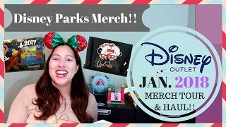 SHOP WITH ME! NEW DISNEY PARKS MERCH AT THE DISNEY OUTLET + MY HAUL OF WHAT I BOUGHT | JAN. 2018