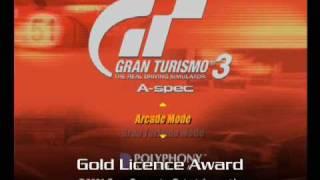 Gran Turismo 3 A-Spec BGM - Gold Licence Award