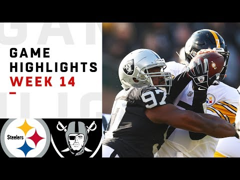 Steelers vs. Raiders Week 14 Highlights | NFL 2018