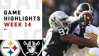 Steelers vs. Raiders Week 14 Highlights
