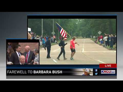 Watch: Motorcade leaves St. Martin's Church following funeral service for Barbara Bush