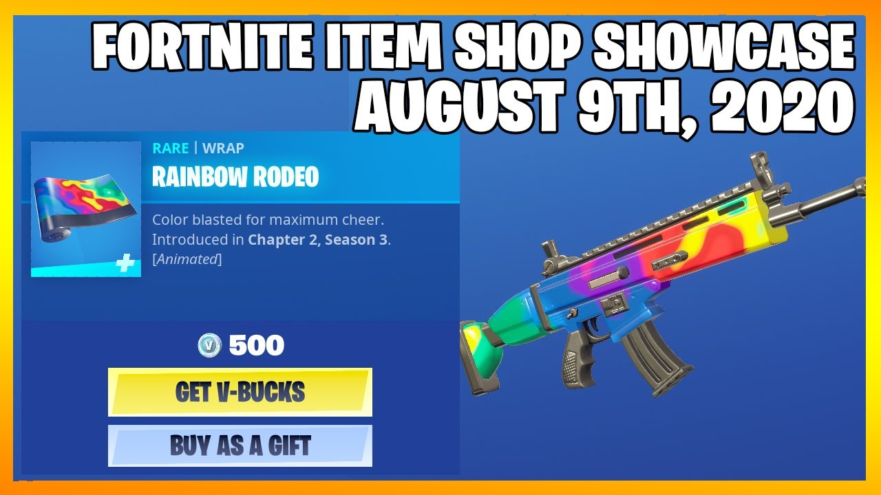 Fortnite Item Shop *NEW* ANIMATED RAINBOW RODEO! [August 9th, 2020] (Fortnite Battle Royale)