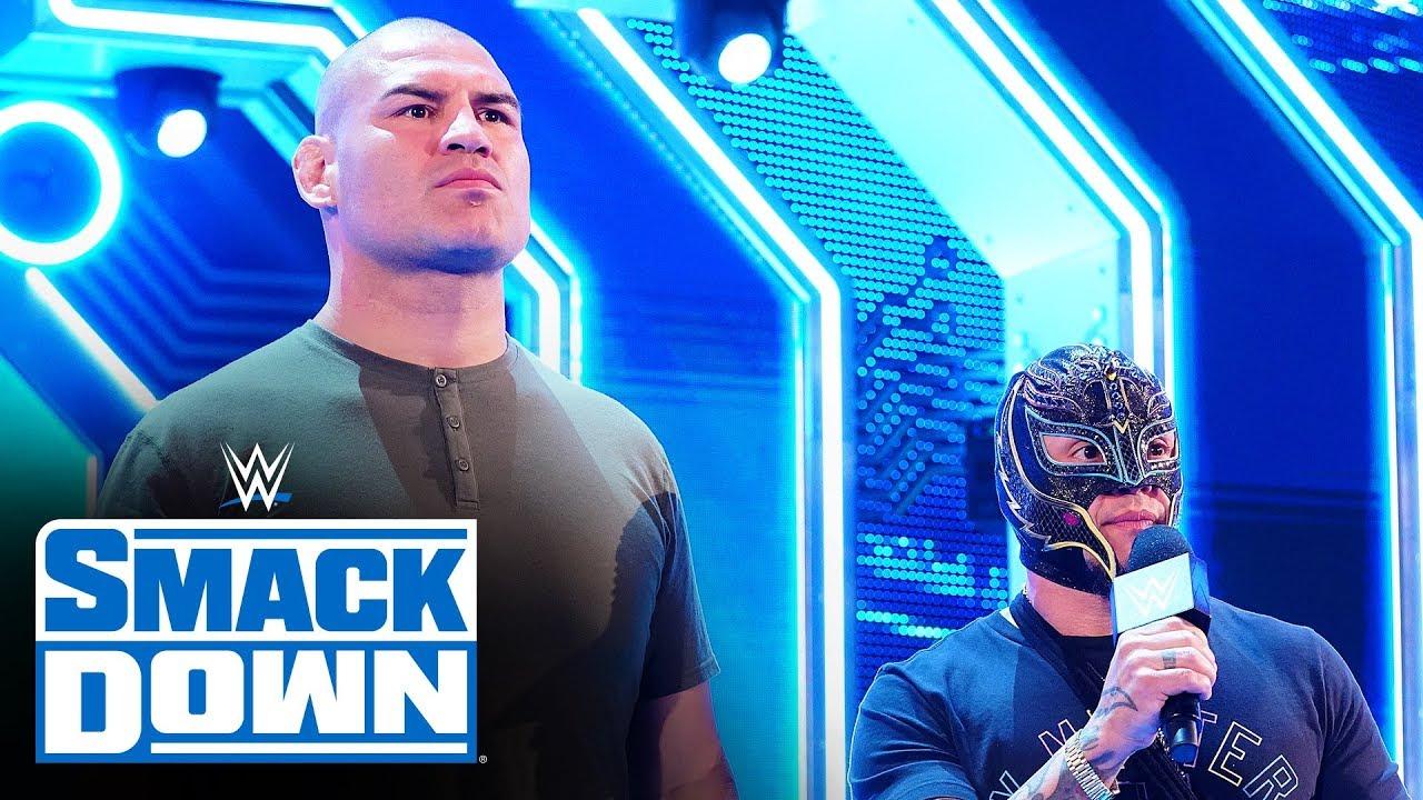 Download Cain Velasquez stares down Brock Lesnar: SmackDown, Oct. 11, 2019