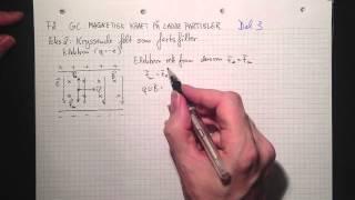 Fysikk 2 6C Magnetisk kraft på ladde partikler Del 3