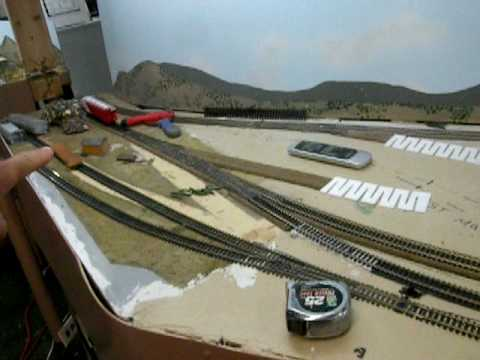 12.07.08 Al's HO Union Pacific train layout expansion Christmas update