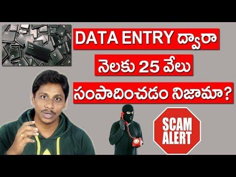 Online Data Entry Jobs In Telugu | Scam Alert