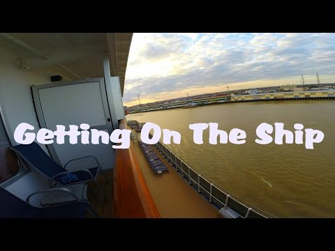 Carnival Dream Cruise; The Day we get on the Ship. Day 1, Part1