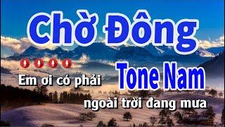 Karaoke Chờ Đông Tone Nam   Nhạc Sống Nguyễn Linh